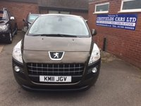 USED 2011 11 PEUGEOT 3008 1.6 SPORT HDI 5d 112 BHP 2 OWNERS, 4 SERVICE STAMPS