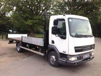 USED 2007 57 DAF TRUCKS LF 4.5 FA45.160 08T DAY E4 160 BHP SCAFFOLD TRUCK Scaffold Truck, Sold With New 12 Month Ministry Test
