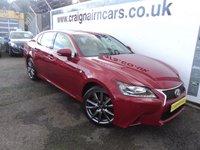 2013 LEXUS GS 2.5 250 F SPORT 4d AUTO 206 BHP £16995.00