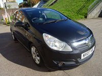 USED 2007 07 VAUXHALL CORSA 1.4 DESIGN 16V 3d AUTO 90 BHP HALF LEATHER**   PRIVACY GLASS**  SERVICE RECORD***  MOT JANUARY 2018***