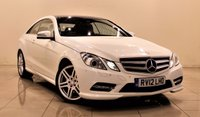 USED 2012 12 MERCEDES-BENZ E CLASS 2.1 E250 CDI BLUEEFFICIENCY S/S SPORT 2d AUTO 204 BHP + 1 PREV OWNER +  SERVICE HISTORY +  APPROVED DEALER