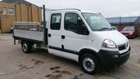USED 2009 58 VAUXHALL COMMERCIAL MOVANO LWB VAUXHALL MOVANO LWB CREW CAB FLAT BED PICK UP / TAIL LIFT