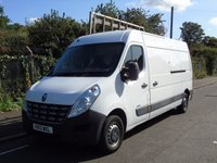 USED 2013 13 RENAULT MASTER LM35 2.3 DCI 125 BHP L3 LWB HIGH ROOF PANEL VAN/GLASS CARRIER/THRAIL SAT-NAV+CHUBB LOCKS+1 OWNER+
