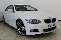 USED 2013 13 BMW 3 SERIES 2.0 320D M SPORT 2DR AUTOMATIC 181 BHP FULL SERVICE HISTORY + HEATED LEATHER SEATS + SAT NAVIGATION + PARKING SENSOR + BLUETOOTH + CRUISE CONTROL + 19 INCH ALLOY WHEELS
