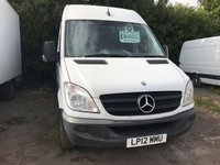 USED 2012 12 MERCEDES-BENZ SPRINTER 2.1 313 CDI LWB 1d 129 BHP