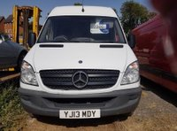 USED 2013 13 MERCEDES-BENZ SPRINTER 2.1 313 CDI LWB 1d 129 BHP ARCTIC WHITE 13 PLATE HIGH ROOF LONG WHEEL BASE