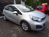 USED 2014 64 KIA RIO 1.2 VR7 3d 84 BHP Full Service History (Kia + ourselves), Balance of Kia Warranty until 2021, NEW MOT (to be completed), One Previous Owner, Great on fuel! Only £30 Road Tax!