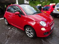 USED 2014 14 FIAT 500 1.2 CONVERTIBLE S 3d 69 BHP Low Mileage, Fiat Service History + Just Serviced by ourselves, NEW MOT (minimum 10 months), One Previous Owner, Great on fuel! Only £30 Road Tax! Convertible