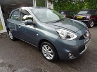 USED 2014 64 NISSAN MICRA 1.2 ACENTA 5d 79 BHP Very Low Mileage, Comprehensive Nissan Service History, One Lady Owner from new, NEW MOT (to be completed), Great on fuel! Only £30 Road Tax!