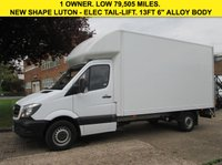 USED 2014 14 MERCEDES-BENZ SPRINTER 2.1 313CDI LUTON BOX TAIL-LIFT 129 BHP. 14FT GRP BODY. PX LOW RATE FINANCE. 5 SERVICES. PX WELCOME