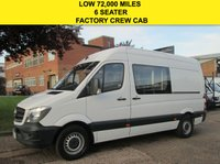 USED 2014 64 MERCEDES-BENZ SPRINTER 2.1 313CDI MWB HIGH ROOF. CREW VAN KOMBI 6 SEATS. FACELIFT RARE VAN. LOW RATE FINANCE. UNDER WARRANTY. PX WELCOME