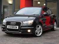 USED 2012 12 AUDI A1 1.4 TFSI S LINE 3d 122 S/S MANUAL 6 SPEED GEARBOX, START STOP TECHNOLOGY, BLUETOOTH PHONE & MUSIC STREAMING, FULL S-LINE BODY KIT, FRONT FOG LIGHTS, 17 INCH TWIN 5 SPOKE ALLOYS, BLACK 1/2 LEATHER INTERIOR, SPORT SEATS, LEATHER MULTIFUNCTION STEERING WHEEL, AIR CONDITIONING, ELECTRIC WINDOWS, ELECTRIC DOOR MIRRORS, CD HIFI WITH SD CARD READER, AUX INPUT, ISO FIX, FOLDING REAR SEATS, AIRBAGS WITH PASSENGER OFF FUNCTION, ILLUMINATING VANITY MIRRORS.  FULL AUDI SERVICE HISTORY.