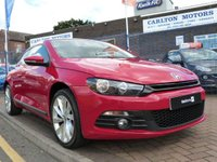 """USED 2011 61 VOLKSWAGEN SCIROCCO 2.0 GT TDI BLUEMOTION TECHNOLOGY 2d 140 BHP FULL VW HISTORY ~ BLUETOOTH ~ 18"""" INTERLAGOS ALLOYS ~ CLIMATE CONTROL ~ PRIVACY GLASS ~ REAR PARKING SENSORS"""