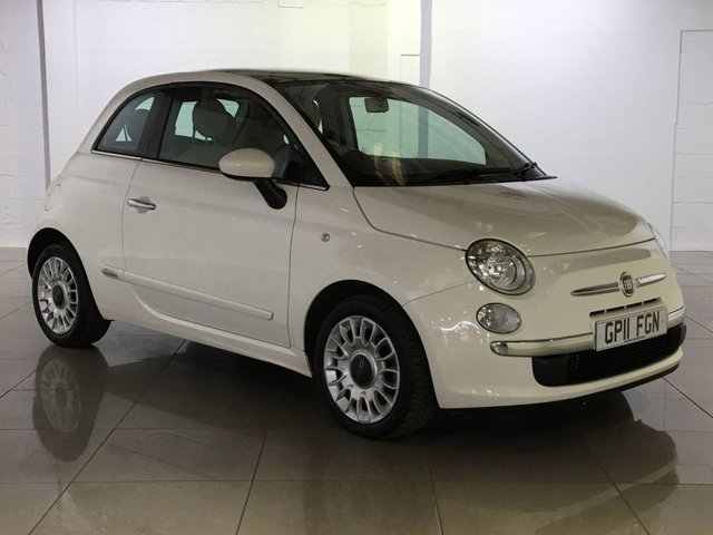 View our 2011 11 FIAT 500 1.2 LOUNGE 3d 69 BHP