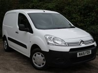 USED 2015 15 CITROEN BERLINGO 1.6 850 ENTERPRISE L1 HDI 1d 89 BHP Ideal Small Van / 3 Seater