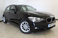 USED 2014 14 BMW 1 SERIES 1.6 116D EFFICIENTDYNAMICS BUSINESS 5DR 114 BHP AIR CONDITIONING + SAT NAVIGATION + BLUETOOTH + MULTI FUNCTION WHEEL + RADIO/CD + 16 INCH ALLOY WHEELS