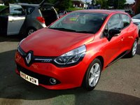 2014 RENAULT CLIO 0.9 DYNAMIQUE MEDIANAV ENERGY TCE ECO2 S/S 5d 90 BHP £7699.00