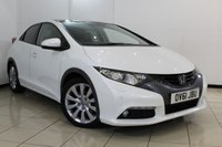 USED 2011 61 HONDA CIVIC 1.8 I-VTEC EX GT 5DR 140 BHP HONDA SERVICE HISTORY + HEATED LEATHER SEATS + SAT NAVIGATION + ELECTRIC PANORAMIC ROOF + PARKING SENSOR + BLUETOOTH + CRUISE CONTROL + MULTI FUNCTION WHEEL + 17 INCH ALLOY WHEELS