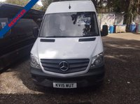 USED 2015 15 MERCEDES-BENZ SPRINTER 2.1 313 CDI LWB 1d 129 BHP FULL SERVICE HISTORY LOW MILEAGE LOW ROAD TAX IDEAL WORK VAN