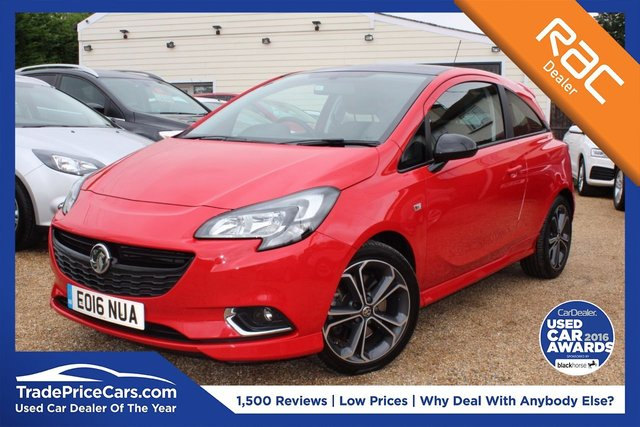 View our 2016 16 VAUXHALL CORSA 1.4 RED EDITION S/S 3d 148 BHP