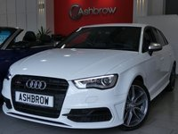 USED 2016 16 AUDI S3 SPORTBACK 2.0 TFSI QUATTRO NAV 5d S TRONIC S/S UPGRADE SUPER SPORT BUCKET SEATS WITH ELECTRIC LUMBAR SUPPORT, UPGRADE BLACK STYLING PACK, UPGRADE 3D DESIGN BLACK INLAYS, UPGRADE AUDI SOUND SYSTEM, UPGRADE HOLD ASSIST, UPGRADE AUTO DIMMING REAR VIEW MIRROR, UPGRADE LIGHT & RAIN SENSORS, UPGRADE ELECTRIC FOLDING HEATED DOOR MIRRORS, UPGRADE THROUGH-LOAD FACILITY,  UPGRADE PRIVACY GLASS, SAT NAV, FULL BLACK LEATHER INTERIOR, HEATED FRONT SEATS, DAB RADIO, BLUETOOTH PHONE & MUSIC STREAMING, AMI, DRIVE SELECT, LEATHER FLAT BOTTOM TIPTRONIC MFSW