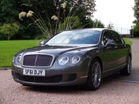 2011 BENTLEY CONTINENTAL FLYING SPUR 6.0 FLYING SPUR SPEED 4d AUTO 600 BHP £54950.00
