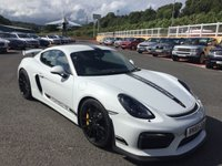 USED 2016 65 PORSCHE CAYMAN 3.8 GT4 CLUBSPORT 380 BHP CLUBSPORT in Carbon Seats, roll cage, Ceramics & more. 2,500 miles