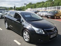 USED 2009 09 TOYOTA AVENSIS ESTATE 2.2 T4 D-CAT 5d AUTO 148 BHP Met Black, Cream leather, electric & heated seats. Diesel Estate Automatic