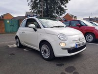 USED 2014 64 FIAT 500 1.2 LOUNGE 3d 69 BHP PANORAMIC ROOF!!..EXCELLENT FUEL ECONOMY!!..LOW CO2 EMISSIONS(115G/KM)..£30 ROAD TAX!!..FULL HISTORY..ONLY 9048 MILES!!..AIR CONDITIONING!!..WITH AUX/USB, AND MEDIA!!