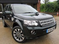 """USED 2014 64 LAND ROVER FREELANDER 2.2 SD4 METROPOLIS 5d AUTO 190 BHP PANORAMIC ROOF, LEATHER, SAT NAV, 19"""" ALLOYS, CLIMATE CONTROL, PARKING SENSORS, FULL SERVICE HISTORY, SPARE KEY"""