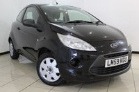 USED 2009 59 FORD KA 1.2 STUDIO 3DR 69 BHP FULL SERVICE HISTORY + AIR CONDITIONING + RADIO/CD + AUXILIARY PORT
