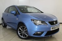 USED 2014 64 SEAT IBIZA 1.2 TSI I-TECH 3DR 104 BHP FULL SEAT SERVICE HISTORY + HALF LEATHER SEATS + AIR CONDITIONING + RADIO/CD + AUXILIARY PORT + ELECTRIC WINDOWS + ALLOY WHEELS