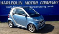 USED 2012 12 SMART FORTWO 1.0 PULSE MHD 2d AUTO 71 BHP 2012 SMART FORTWO 999cc PULSE AUTOMATIC METALLIC BLUE AND SILVER AIR CON ALLOYS ONLY 10,000 Miles FULL SERVICE HISTORY 1/2 LEATHER INTERIOR