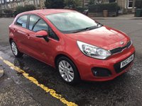 USED 2013 63 KIA RIO 1.4 CRDI 2 ECODYNAMICS 5d 88 BHP PRICE INCLUDES A 6 MONTH AA WARRANTY DEALER CARE EXTENDED GUARANTEE, 1 YEARS MOT AND A OIL & FILTERS SERVICE. 6 MONTHS FREE BREAKDOWN COVER.   *LIKE AND SHARE OUR FACEBOOK PAGE*