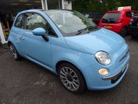 USED 2011 11 FIAT 500 0.9 CONVERTIBLE TWINAIR LOUNGE 3d 85 BHP Full Fiat Service History + Just Serviced by ourselves, MOT until May 2018 (no advisories), One Owner from new, Excellent on fuel! FREE Road Tax! Convertible