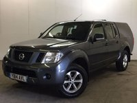 USED 2014 14 NISSAN NAVARA 2.5 DCI VISIA 4X4 SHR DCB 1d 144 BHP SNUGTOP CANOPY PRIVACY ONE OWNER FSH NO FINANCE REPAYMENTS FOR 2 MONTHS STC. COMMERCIAL (£10700+2140VAT). 4WD. SNUGTOP CANOPY. STUNNING GREY MET WITH BLACK CLOTH TRIM. AIR CON. 17 INCH ALLOYS. COLOUR CODED TRIMS. BLUETOOTH PREP. PAS. EW. 6 SPEED MANUAL. MFSW. MOT 09/18. ONE OWNER FROM NEW. FULL SERVICE HISTORY. FCA FINANCE APPROVED DEALER. TEL 01937 849492