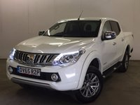 USED 2015 65 MITSUBISHI L200 2.4 DI-D 4X4 WARRIOR DCB 1d 178 BHP FACELIFT SAT NAV LEATHER RUNNING BOARDS ONE OWNER FSH NO FINANCE REPAYMENTS FOR 2 MONTHS STC. COMMERCIAL (£15800+3160VAT). FACELIFT MODEL 4WD. SATELLITE NAVIGATION. STUNNING WHITE WITH FULL BLACK LEATHER TRIM. ELECTRIC HEATED SEATS. CRUISE CONTROL. RUNNING BOARDS. AIR CON. 17 INCH ALLOYS. COLOUR CODED TRIMS. PRIVACY GLASS. LOAD LINER. REVERSING CAMERA. BLUETOOTH PREP. PAS. EW. DAB DIGITAL RADIO. 6 SPEED MANUAL. MFSW. TOWBAR. ONE OWNER FROM NEW. FULL SERVICE HISTORY. FCA FINANCE APPROVED DEALER. TEL 01937 849492