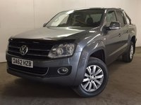 USED 2012 62 VOLKSWAGEN AMAROK 2.0 DC TDI HIGHLINE 4MOTION 1d AUTO 180 BHP SAT NAV LEATHER ONE OWNER FSH COMMERCIAL (£15400+3080VAT). 4WD. SATELLITE NAVIGATION. STUNNING GREY MET WITH FULL BLACK LEATHER TRIM. HEATED SEATS. CRUISE CONTROL. AIR CON. 18 INCH ALLOYS. COLOUR CODED TRIMS. PRIVACY GLASS. PARKING SENSORS. CARGO LINING. LOAD COVER. BLUETOOTH PREP. PAS. EW. R/CD PLAYER. MFSW. MOT 09/18. ONE OWNER FROM NEW. FULL SERVICE HISTORY. FCA FINANCE APPROVED DEALER. TEL 01937 849492