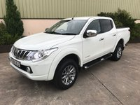 USED 2016 65 MITSUBISHI L200 2.4 DI-D 4X4 WARRIOR DCB 1d 178 BHP MASSIVE SPEC, LEATHER, SAT NAV, REAR CAMERA, LINER