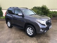 USED 2015 15 TOYOTA LAND CRUISER 3.0 D-4D ACTIVE 3d 188 BHP REVERSE CAMERA, PRIVACY GLASS, TOWBAR, BLUETOOTH