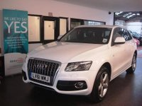 USED 2011 61 AUDI Q5 2.0 TDI QUATTRO S LINE 5d 141 BHP This Q5 is finished in Ibis White with Black heated leather S Line embossed seats. It is fitted with power steering, remote locking, electric windows, mirrors with power tailgate, climate control, front and rear parking sensors, Auto lights- Xenon, LED day lights, Bluetooth, rear sunblinds, cup holders, CD Stereo with Media connection and more. It has had 2 owners from new and comes with a service history. The current Mot runs till 31/08/2018. Finance and extended warranties are available.