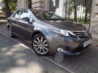 USED 2013 63 TOYOTA AVENSIS 2.2 D-CAT EXCEL 4d AUTO 150 BHP *** FINANCE & PART EXCHANGE WELCOME *** FULL BLACK LEATHER ELECTRIC SEATS , SAT/NAV BLUETOOTH PHONE REVERSE CAMERA