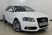 USED 2009 59 AUDI A3 1.4 TFSI S LINE 3DR 123 BHP HALF LEATHER SEATS + CLIMATE CONTROL + PARKING SENSOR + MULTI FUNCTION WHEEL + AUXILIARY PORT + 18 INCH ALLOY WHEELS