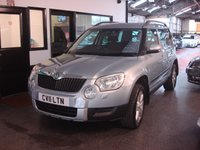 USED 2011 11 SKODA YETI 2.0 SE TDI CR 5d 109 BHP This Yeti is finished in light blue metallic with black cloth seats. It is fitted with power steering, has a spare wheel and jack, remote locking, electric windows and mirrors, climate control, cruise control, single socket tow bar, rear parking sensors, Parrot Bluetooth kit, alloy wheels, CD stack Stereo with Aux port and more. It has had one private owner and comes with a full service history consisting of 7 stamps, mainly Skoda and invoices. The Mot runs till January 2018.