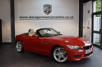 USED 2014 63 BMW Z4 2.0 Z4 SDRIVE18I M SPORT ROADSTER 2DR 155 BHP + FULL CREAM LEATHER INTERIOR + FULL BMW SERVICE HISTORY + 1 OWNER FROM NEW + BLUETOOTH + HEATED SPORT SEATS + DAB RADIO + RAIN SENSORS + 19 INCH ALLOY WHEELS +