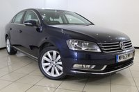 USED 2013 63 VOLKSWAGEN PASSAT 2.0 HIGHLINE TDI BLUEMOTION TECHNOLOGY DSG 4DR AUTOMATIC 139 BHP FULL VW SERVICE HISTORY + SAT NAVIGATION + REVERSE CAMERA + CRUISE CONTROL + MULTI FUNCTION WHEEL + 17 INCH ALLOY WHEELS
