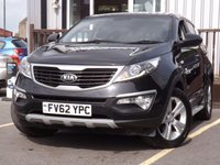 USED 2012 62 KIA SPORTAGE 1.6 1 5d 133 BHP STUNNING EXAMPLE WITH FULL MAIN DEALER SERVICE - 4 STAMPS, OUTSTANDING MANUFACTURER WARRANTY, LONG MOT