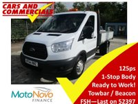 USED 2014 64 FORD TRANSIT TIPPER 350 L2 RWD 1-Way 125ps 125ps 1 Stop body. New shape Tipper