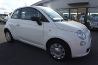 USED 2012 62 FIAT 500 1.2 POP 3d 69 BHP LOW DEPOSIT OR NO DEPOSIT FINANCE AVAILABLE.