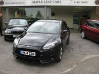 USED 2014 14 FORD FOCUS 2.0 ST-3 5d 247 BHP ST 3 5 Door Full Ford History in black. Full Leather. Xenons. Bluetooth. Park sensors